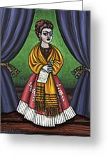 Curtains For Frida Greeting Card