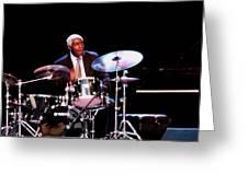 Curtis Boyd On Drums Greeting Card