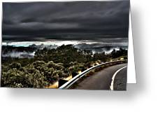 Curve On The Road To Heaven  Greeting Card