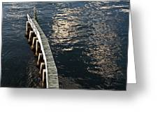 Curved Fender Las Olas Drawbridge Fort Lauderdale Florida Greeting Card