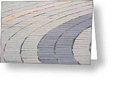 Curved Pavement As Background Greeting Card