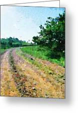 Curved Road Painting Greeting Card