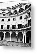 Curved Seville Spain Courtyard Greeting Card