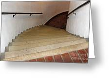 Curved Stairway At Brandywine River Museum Greeting Card