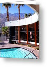 Curves Ahead Ocotillo Lodge Palm Springs Greeting Card