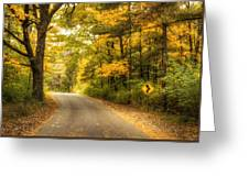 Curves Ahead Greeting Card by Scott Norris