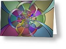 Curves Greeting Card by Sandy Keeton