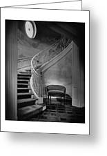 Curving Staircase In The Home Of  W. E. Sheppard Greeting Card