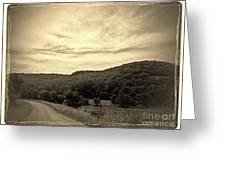Curvy Road To Nowhere Greeting Card by Garren Zanker