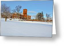 Cushing Academy In Winter Greeting Card