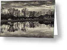 Cushwa Basin C And O Canal Black And White Greeting Card