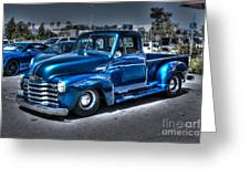 Custom Chevy Pickup Greeting Card