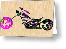 Custom Chopper Motorcycle Greeting Card