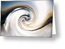 Custom Chrome Wave Greeting Card by Jeffery Fagan