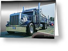 Custom Dump Truck Greeting Card