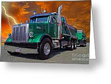 Custom Gravel Truck Catr0278-12 Greeting Card