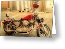 Custom Harley   Hdr Greeting Card