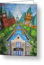 Custom Home Interiors - Ottawa Landmarks Greeting Card