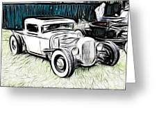 Custom Hot Rod Pickup Greeting Card