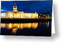 Custom House And International Financial Services Centre Greeting Card