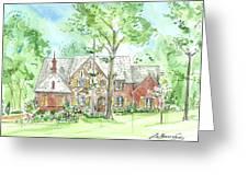 House Portrait Or Rendering Sample Greeting Card