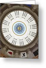 Custom House Tower Ceiling Boston Greeting Card