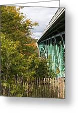 Cut River Bridge 2 Greeting Card