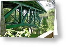 Cut River Bridge Near Epoufette Michigan Greeting Card