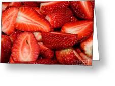 Cut Strawberries Greeting Card