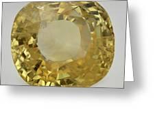 Cut Yellow Sapphire Gemstone Greeting Card