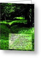 Cut Your Own Path Greeting Card by Mike Flynn