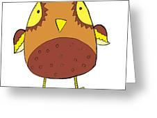 Cute Brown Owl Greeting Card