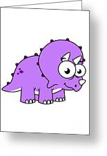 Cute Illustration Of A Triceratops Greeting Card