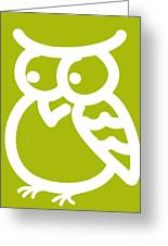 Cute Owl Nursery Print Greeting Card by Nursery Art