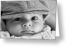 Cutest Hat Head Greeting Card by Stephanie Grooms