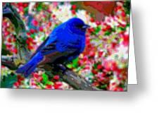 Cutout Layer Art Animal Portrait Bird Blue Greeting Card