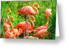 Cutout Layer Art Animal Portrait Flamingo Greeting Card