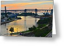 Cuyahoga River Cleveland Ohio Greeting Card