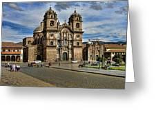 Cuzco Church Greeting Card