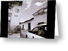 The Streets Of Cuzco Greeting Card