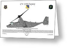 Cv-22b Osprey 20th Sos Greeting Card by Arthur Eggers