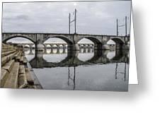 Cv - Susquehanna River Bridge Harrisburg  Pennsylvania Greeting Card