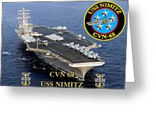 Cvn-68 Uss Nimitz  Greeting Card