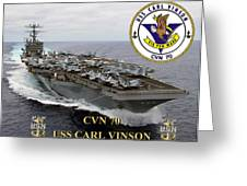 Cvn-70 Uss Carl Vinson Greeting Card