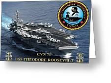 Cvn-71 Uss Theodore Roosevelt Greeting Card