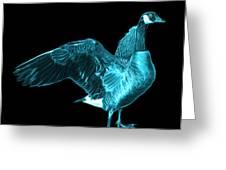 Cyan Canada Goose Pop Art - 7585 - Bb  Greeting Card