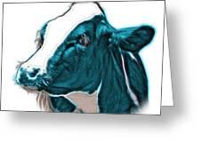 Cyan Cow Holstein - 0034 Fs Greeting Card