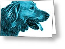Cyan Golden Retriever - 4047 Fs Greeting Card