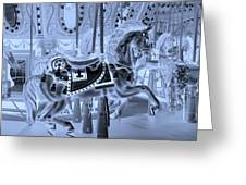 Cyan Horse Greeting Card