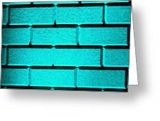 Cyan Wall Greeting Card